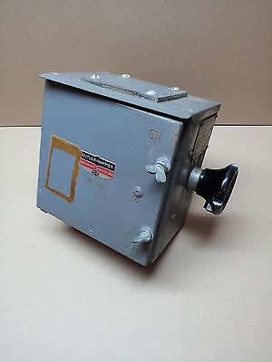Cutler Hammer 30A Disconnect Switch - Vintage - collectable - Navy - steampunk