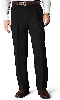 Dockers NEW Black Mens Size 34X32 Khakis Chinos Pleated Front Pants $50 277