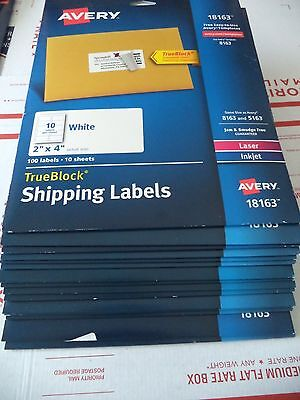avery shipping labels w trueblock 18163 2 x 4 white 1500 100 x 15