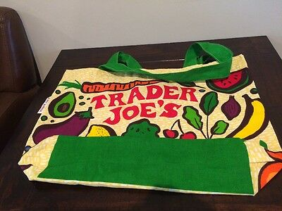 Trader Joe's Fruit and Vegetables Reusable Grocery Tote Shopping Bag