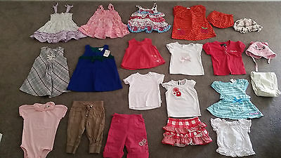 Bulk Bundle Mixed Baby Girl Clothing Size 0 Summer Dresses Tops Skirt Hat BRANDS