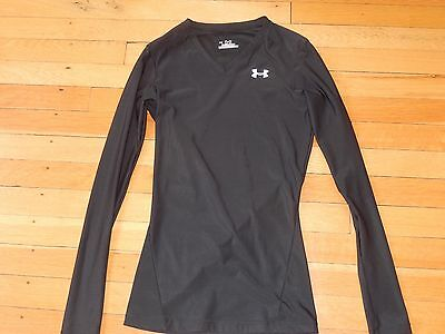 unisex kids under armour dry fit workout shirt black XS long sleeve