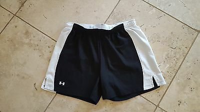 Women's Under Armour Black/White Athletic Shorts Size SM
