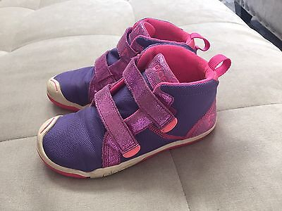 Girls Plae Shoes Max Suede Nylon Size 1  Purple Pink  Flexible Soft
