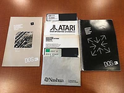 Atari Dos 2.0, 2.5, 3.0 Floppy Disks - Oem Dx5075 & Others, Manuals - Nice!