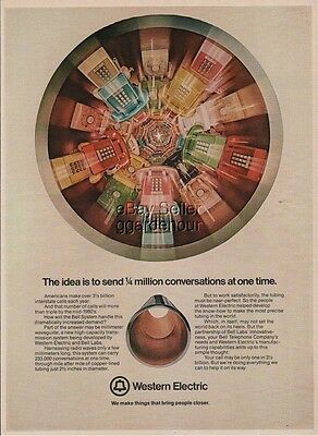 1974 Western Electric Bell Telephone Vintage Rotary Push Button Phone Print Ad