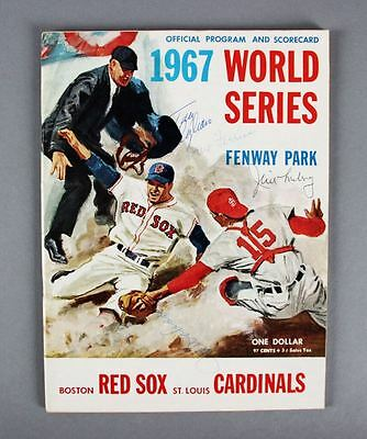 1967 WS Program Signed by Tony Conigliaro 3 & Others – JSA