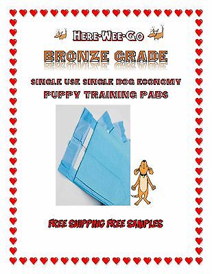 "17x24-30x30"" Dogs Here Wee Go Bronze Piddle Puppy Pads Dogs from 12-35lbs"