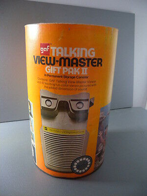 Vintage GAF Talking View-Master Gift Pak II with 8 Reels