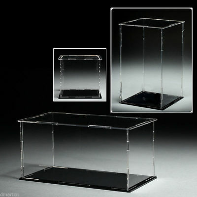 Acrylic Plastic Display Case Box Dustproof Self-Assembly Various Size To Choose