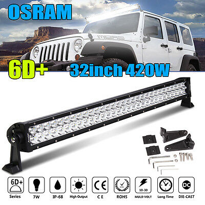 32inch 420W COMBO LED Work Light Bar Offroad Driving Lamp SUV Car Boat 4WD Truck