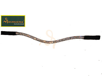 Rumani Horse Browband in Quality Leather With Diamante Chain
