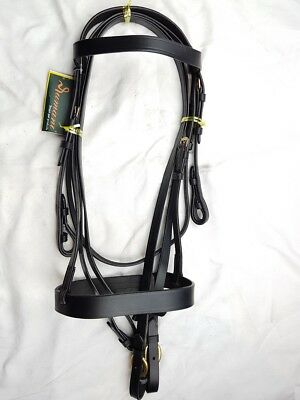 Rumani Snaffle Leather bridle with Plain Reins