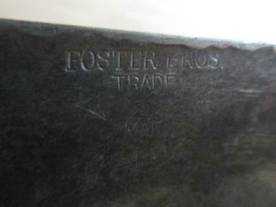 #10768 ##MASSIVE Antique Foster Bros Leather Skinner/Butcher's Splitter Knife