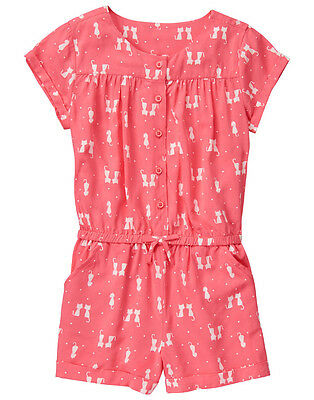 NWT Gymboree KITTY IN PINK Coral Kitty Cat Kitten Pals SS Shorts Romper~10~