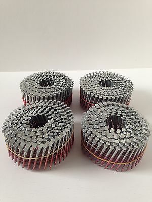 4 Coils of 300 Belleaire Fencing Coil Nails 57mm x 2.5mm Galvanised.