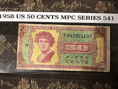 1958 United States MPC ..50 Cents ... Series 541 * Nice & Low Price, L@@k