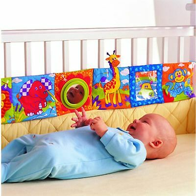 Crib Intelligence Development Toy Infant Kid Baby Bed Cognize Books Cloth Book