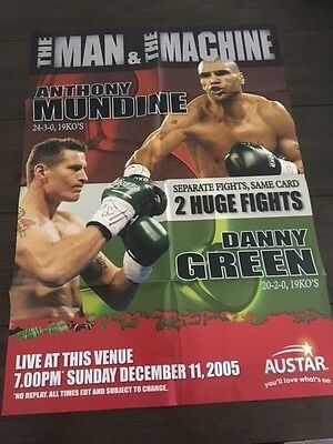 Anthony Mundine V Danny Green - Pre Fight - OFFICIAL BOXING POSTER Full Size
