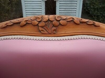 FRENCH BEAUTIFUL SATIN DOUBLE LOUIS XV REVIVAL BEDSTEAD fabulous carvings