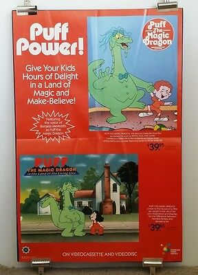 Original Movie Poster PUFF THE MAGIC DRAGON 1978 Vid Release 420 Mary Jane 36x24