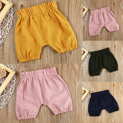 Baby Boy Girl Kid Toddler Bloomer Shorts Bottoms Printed Harem Pants Summer New