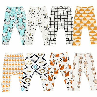 Baby Kids Boy Girl Harem Pants Animal Printed Toddler Trousers Bottoms Leggings