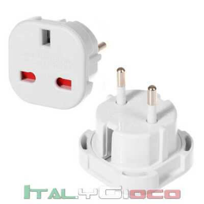 Adattatore bianco Spina Presa Uk Inglese Regno Unito per europa Eu Adapter Power