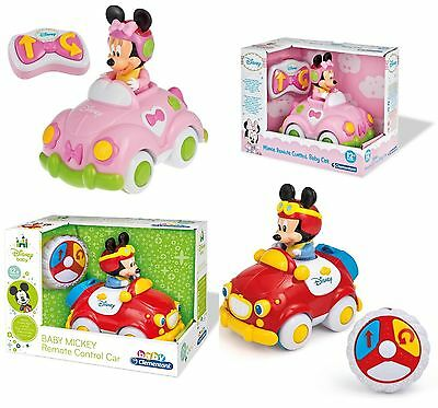 Baby Mickey Mouse Or Minnie Toy My First RC Remote Control Car 12+ Months New