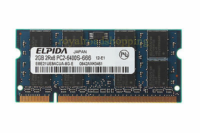 ELPIDA 2GB DDR2 PC2-6400S 2RX8 800MHz 800 SO-DIMM Laptop Memory NEW Tested RAM