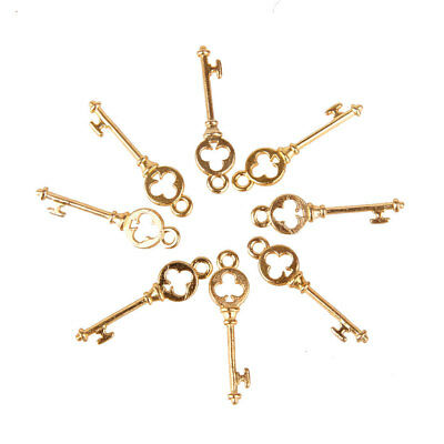 100pcs Gold KEY Charms Pendants FINDINGS for Jewelry Making DIY Craft