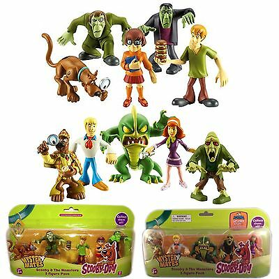 Scooby Doo & The Monsters 10 Figure Toy Bundle Set Shaggy Velma Fred Daphne New