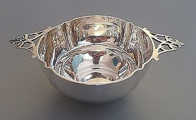 Antique Victorian solid silver quaich, William Evans, London 1894