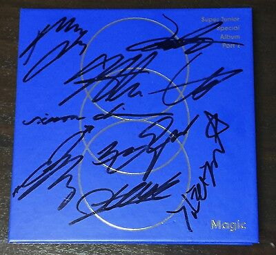 "SUPER JUNIOR autographed ""MAGIC"" Special Album signed PROMO CD"