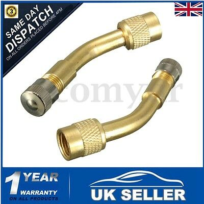 2x 135 Degree Angle Tyre Valve Extension Adaptor Motorcycle Motorbike Car Bike