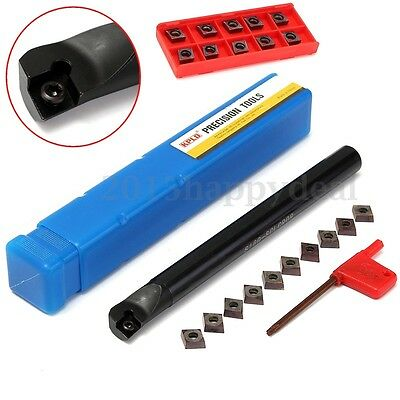 S16Q-SCLCR09 Lathe Boring Bar Turning Tool Holder + 10x CCMT09T3 Blades Inserts