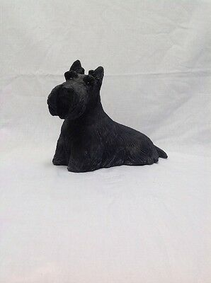 SANDICAST SANDRA BRUE BLACK SCHNAUZER Figurine Signed On Bottom