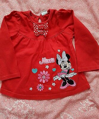 Baby girl Minnie Mouse top 18-24 months