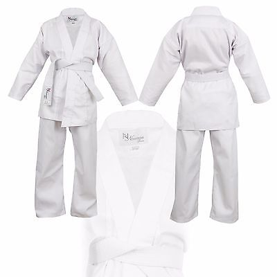 White Children's Karate Suit - Free White Belt Kids Karate suit