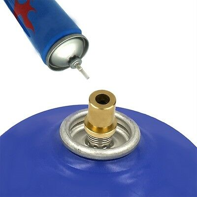 AU Outdoor Camping Hiking Stove Gas Burner Gas Cylinder Tank Refill Adapter MG
