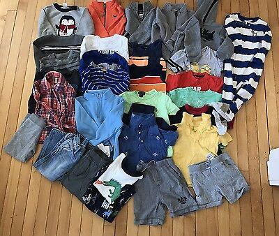 Boy's Toddler 24-2T Clothing Lot of 31 Shirts Jeans Hoodie Sweaters Carters Gap