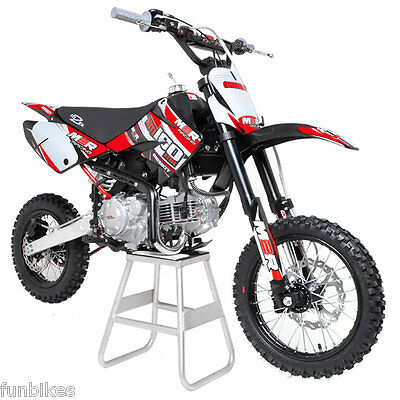 M2R Racing KM160MX 160cc 14/12 82cm Pit Dirt Bike Red Yellow MX Offroad