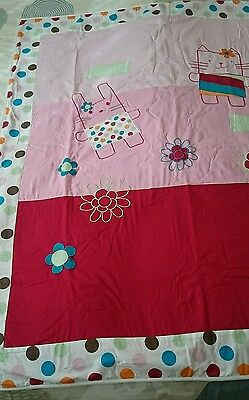 Mothercare coverlet / quilt for cot or cotbed, pink theme, Brandnew!!