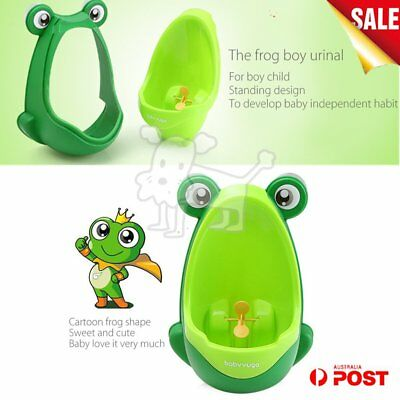 Kids Baby Toddler Boy Frog Potty Urinal Pee Toilet Home Training Trainer LOT AU