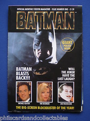 Michael Keaton - BATMAN  poster magazine number 1  1989