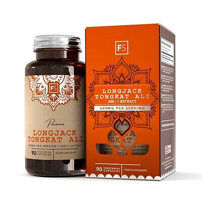 LongJack Tongkat Ali  |  200:1 Extract  |  300mg Tablets  | Testosterone Booster