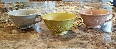Woodfield Steubenville Leaf Pottery Dove Gray Tea Cup Only!