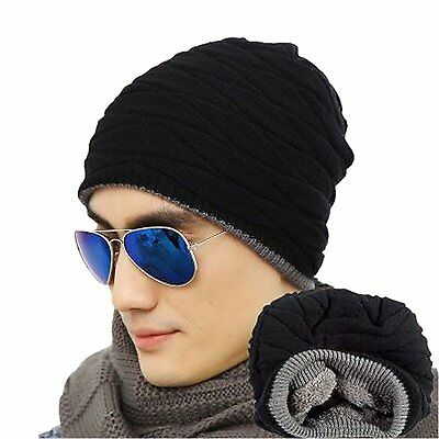 Spikerking Mens Soft Lined Thick Knit Skull Cap Warm Winter Slouchy Beanies Hat