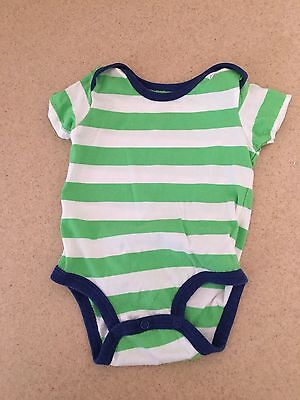 Carter's Baby Boy One Piece 3 Months 3 M Infant Striped Green Blue Short Sleeve