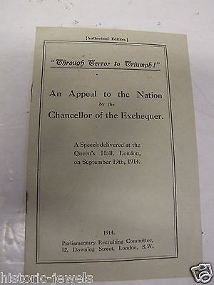 WW1 Appeal to the Nation 1914 Lloyd George